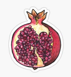 Pegatina Pomegranate