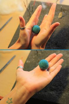 Bolas de fieltro con aguja / Needle felt balls