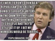 """A meme claims Trump told People magazine Republicans are """"dumbest group of voters in the country."""""""
