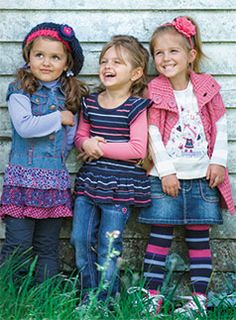 cute fall girl clothes - love the jean skirt over leggings