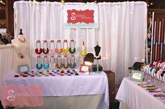 My Bazaar Bizarre Craft Booth Display │ Soleil Selene® Craft Show Table, Craft Fair Table, Craft Show Ideas, Craft Fair Displays, Craft Booths, Booth Displays, Display Ideas, Craft Stalls, Bazaar Crafts