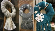 Recyklované Vánoce: Věnce na dveře Burlap Wreath, Wreaths, Winter, Christmas, Diy, Home Decor, Decoration, Winter Time, Xmas