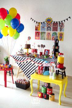 5th Birthday Party Ideas, Superhero Birthday Party, First Birthday Parties, Birthday Party Decorations, Marvel Baby Shower, Avengers Party Decorations, Pokemon Birthday, Bernardo, Power Ranger Birthday