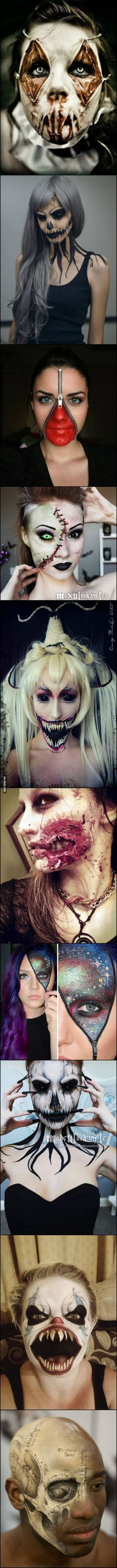 Some Of The Creepiest Halloween Makeup Ideas.