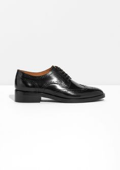 Other Stories image 1 of Lace-up Leather Brogue  in Black