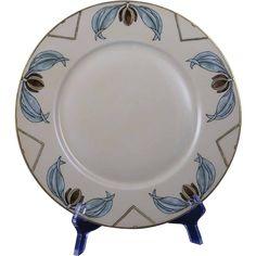 Plainemaison Limoges Arts & Crafts Organic Motif Plate (Signed E. Pratt/Dated