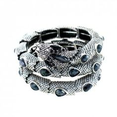 Metallic snake wrap bracelet by Jolie Bijoux.