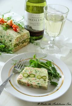 Pike, crayfish and asparagus terrine - a great spring time treat (also for those avoiding meat, gluten and/or carbs!)