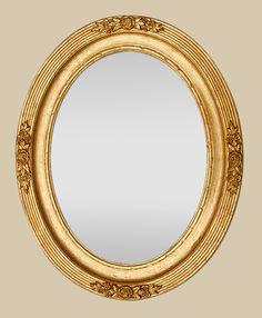 Miroir ancien ovale poque napol on 3 miroir miroir for Specchio 1900