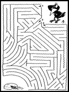 """Лабиринты вида """"Найди правильный путь"""" :: Все для детей. Детские ресурсы."""