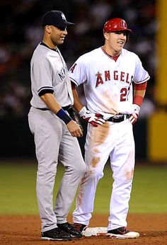 Mike Trout and Derek Jeter <33