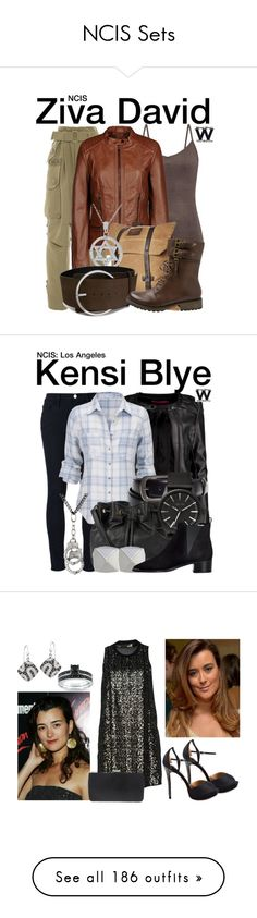 """""""NCIS Sets"""" by brookepenelopedavis-843 ❤ liked on Polyvore featuring Marc Jacobs, ESPRIT, Burton, Bling Jewelry, COSTUME NATIONAL, Yellow Box, television, wearwhatyouwatch, Frame Denim and Boohoo"""