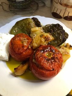 Greek Recipes, Vegetable Dishes, Baked Potato, Main Dishes, Food And Drink, Vegetables, Cooking, Ethnic Recipes, Tips