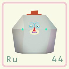 Here's ruthenium! This element's name came from the Latin word 'Ruthenia' meaning Russia, as it was originally from the Ural Mountains in Russia. Ruthenium is a very rare, hard, shiny, brittle, silvery-white metal that does not tarnish at room temperature. It's unaffected by air, water and acids.