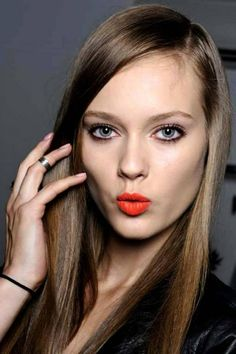 Orange Lips For Fashionistas