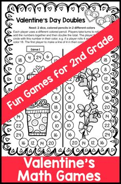 Valentines Day Math Games For Second Grade