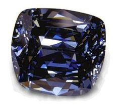 The Blue Lilli ~ This 30.06-carat blue diamond was cut by the William Goldberg Corporation. He named the stone after his wife, Lili. The stone's shape is a sort of tapered cushion.