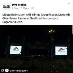 Müşterilerimizden Akif Yılmaz Group İnşaat, Mersin'de düzenlenen Ramazan Şenliklerinin sponsoru.  Başarılar dileriz.