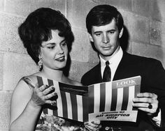 Anthony Perkins and singer Donna Parker pose for a News-Sentinel photographer before a ceremony in which Knoxville received the All-America City Award from Look magazine and the National Municipal League on April 16, 1963, at the Civic Auditorium.
