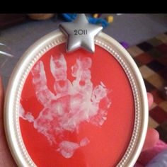 Babys first christmas handprint ornament