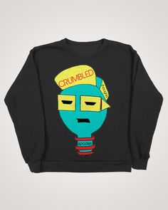 Crumbled Thoughts Spike Light Crewneck, $48.00