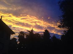 Autumn sunrise in Benoni.