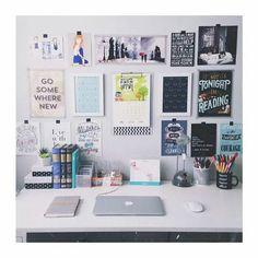 Wonderful Ideas: Grey Minimalist Bedroom Gray minimalist home inspiration colour.Colorful Minimalist Home Layout minimalist living room small desk space. Decoration Ikea, Dorm Decorations, Dream Rooms, Dream Bedroom, Desk Inspiration, Desk Inspo, Room Goals, Desk Space, Study Space
