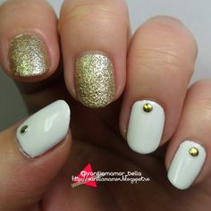 NOTD | Fehér, zöld, arany ~ Vaníliamámor