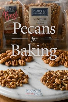 What's better than pecans for baking? Baker's Best Plus from Pearson Farm! Georgia Pecans, Pecan Recipes, Free Food, Free Recipes, Almond, Stuffed Mushrooms, Baking, Vegetables, Stuff Mushrooms