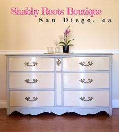 French provincial dresser shabby chic by ShabbyRootsBoutique, $500.00
