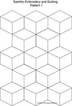 Sashiko Pattern 2: Sashiko Pattern 1