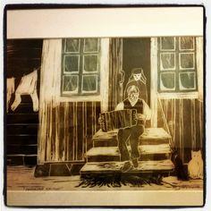 #MarttiYlävaara #linotyö #taidegrafiikkaa #grafiikkaa circa 1983