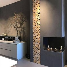 Hottest Photo indoor Fireplace Design Style Regardless of whether yourr home is in Aspen or Ca, there's really no question a soothing result connected with a cozy Home Fireplace, Modern Fireplace, Living Room With Fireplace, Fireplace Design, Bioethanol Fireplace, Fireplace Showroom, Fireplaces, Home Living Room, Interior Design Living Room