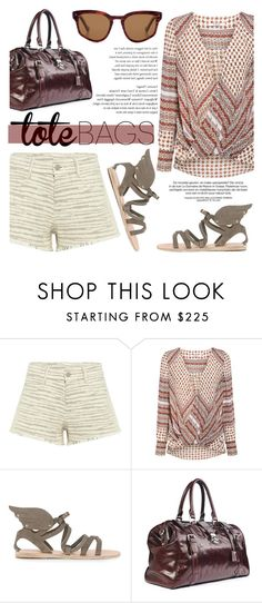 """""""In the Bag: Beach Totes"""" by ifchic ❤ liked on Polyvore featuring IRO, 10 Crosby Derek Lam, Ancient Greek Sandals, Grey Ant, contestentry, ifchic and beachtotes"""