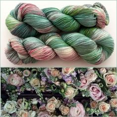 Spring Mix. Witch Candy Yarn colorway