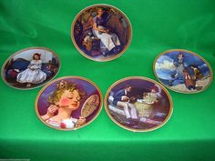 """Five Knowles Collectable Plates by Norman Rockwell """"Rediscovered Women"""" American 