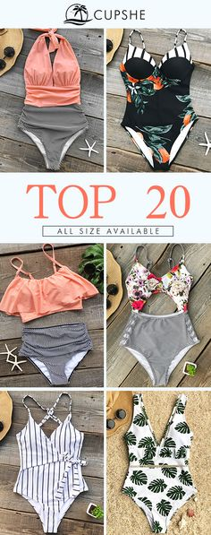 Cupshe Top-selling Of The Week. Once again, Cupshe brings you a collection of hot-selling bikinis. Take a look if you are out in the sun! Either you want to be straight-forward or conservative, elegant or classic, we have everything you want!