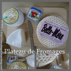 FREE PATTERNS CHEESE  Crochet and Felt food play  Tutos Fromages pour sa Dinette