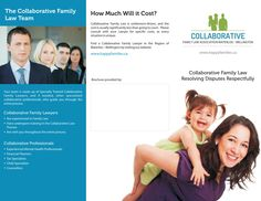 Outside of a Tri-Fold Brochure for Collaborative Family Law Association in Waterloo - Wellington, Ontario. Part of the www.danipa.com Graphic Design Portfolio