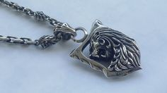 Courage Lion pendant with neclace