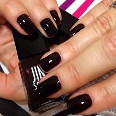 You can never go wrong with a classic black nail!