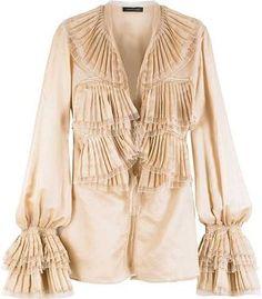 6ebd7d82dd4f4 Roberto Cavalli Ruffle-front blouse - ShopStyle Longsleeve