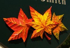 Muskvale Property Sign hand carved leaves | Danthonia Designs