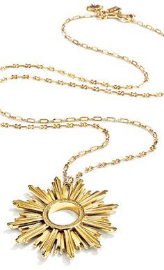 'Sunburst' gold necklace by Coach