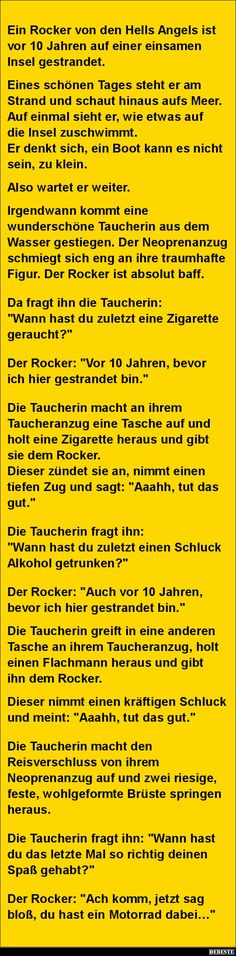 Ein Rocker von den Hells Angels ist vor 10 Jahren..   Lustige Bilder, Sprüche, Witze, echt lustig