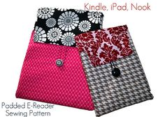 Kindle Fire Case Pattern, Ereader PDF Sewing Pattern Case, iPad Mini, iPad, Kindle, Kindle Fire, Instant Download...The E-reader Sleeve