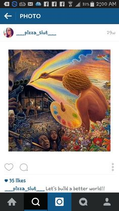 """""""This art is powerful"""" 3rd Eye, Psychedelic Art, Illusions, Painting, Instagram, Insight, Food, Painting Art, Paintings"""