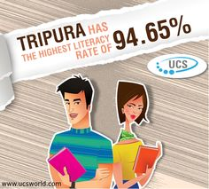 #DidYouKnow #Tripura has the highest #literacy rate of 94.65%!!   www.ucsworld.com  #Career #MBBS #StudyInAbroad