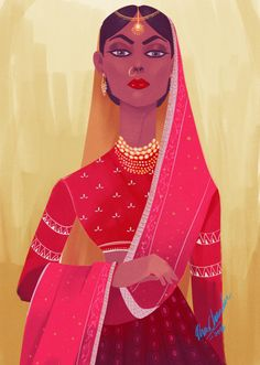 I have no idea what I was trying to do but desi outfits are always nice to paint. Character Inspiration, Character Art, Indian Illustration, Posca Art, Illustrations, Character Illustration, Indian Art, Art Girl, Fantasy Art