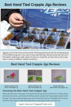 Best Hand Tied Crappie Jigs: If you want to buy hand tied jigs, selecting a wide variety of colors is important, as they have a role to play when it comes to different weather conditions, a jig with a few extra features could turn out to be helpful, and lastly a jig with a sharp hook can help you more than you would expect it to. Crappie Jigs, Crappie Fishing Tips, Fishing Shop, Bright Color Schemes, Different Fish, Custom Ties, Weather Conditions, All Over The World, Things To Come